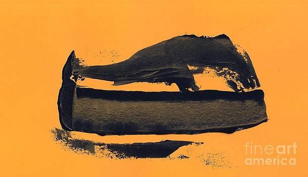 Abstracto black yellow by Eliso Ignacio Silva