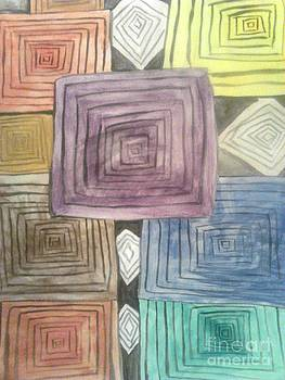Abstracts boxes by Amelia Rodriguez