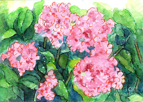Ac326 Pink Flowers by Kirohan Art