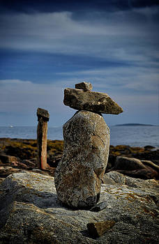 Acadia Rock Cairn by Quin Bond