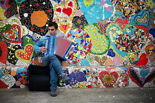 Accordion Player by Pedro Nunez