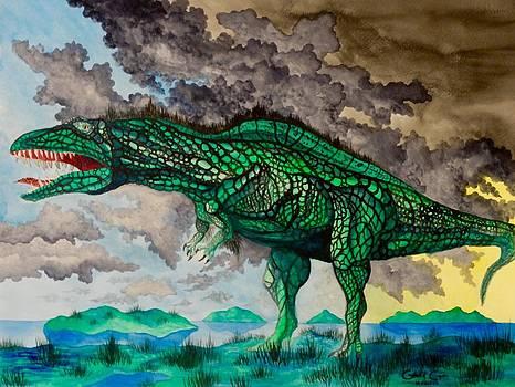 Acrocanthosaurus by Gabriel Cajina