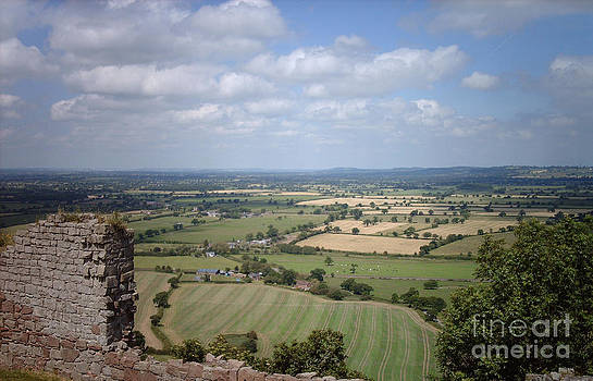 Across Cheshire From Beeston Castle England by Michelle Deyna-Hayward