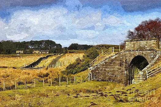 Across The Old Railway - Phot Art by Les Bell