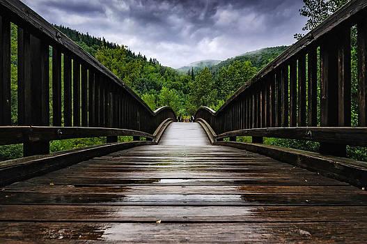 Across The Wooden Bridge by Darko Ivancevic