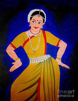 Acrylic Painting-An Indian Dancer by Priyanka Rastogi