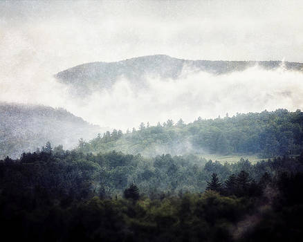 Lisa Russo - Adirondack Mountains in the Fog as Photographed in Lake Placid