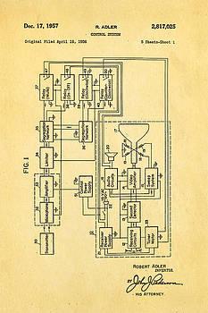 Ian Monk - Adler TV Remote Control Patent Art 1957