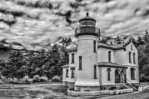 Admiralty Head Lighthouse-Black and White by Jeff Swanson