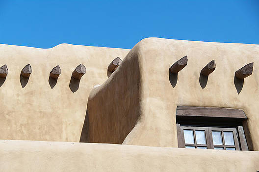 Adobe House with Blue Sky by Kristin Clarke