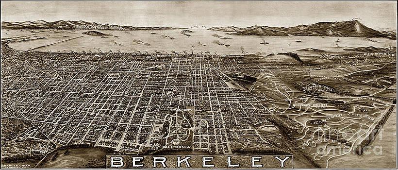 California Views Mr Pat Hathaway Archives - Aerial view Berkeley California 1909