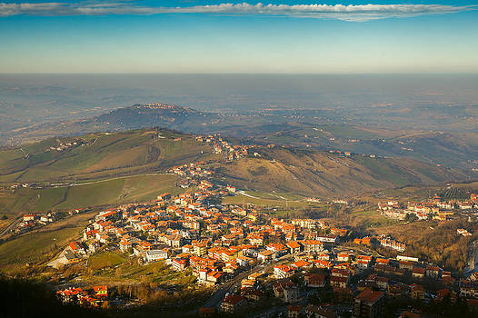 Aerial view from San Marino by Cristian Mihaila