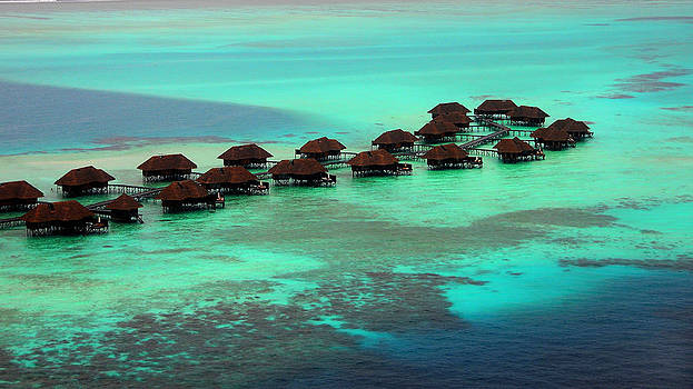Jenny Rainbow - Aerial View of Conrad Resort. Maldives