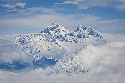 Aerial view of Mount Everest by Hitendra SINKAR