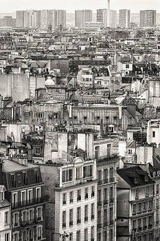 Aerial View of Paris. Black and White by Francesco Rizzato