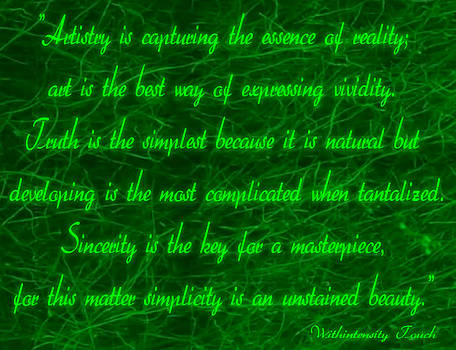 Aesthetic Quote 1 by Withintensity  Touch