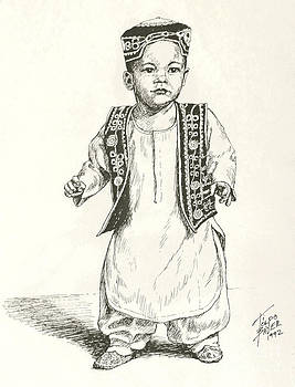 Afghan Boy by Art By - Ti   Tolpo Bader