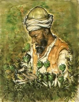 Art America Gallery Peter Potter - Afghani Harvest - Watercolor