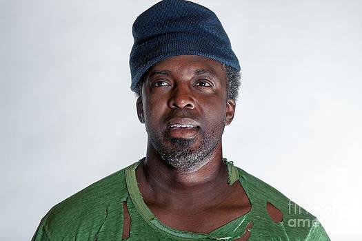 Gunter Nezhoda - African American homeless man