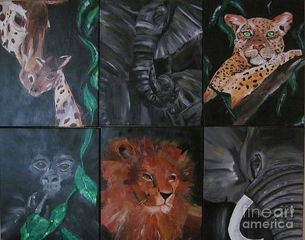 African Animal Mural by Susan Voidets