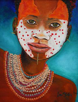 African Face Paint by Ken Caffey