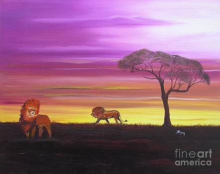 African Lions by Barbara Hayes