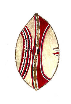 African Maasai War Shield by Michael Vigliotti