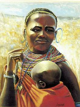 African Mother and Child by JAXINE Cummins