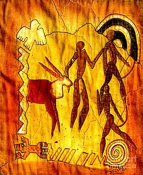 African Rock Painting by Sylvie Heasman