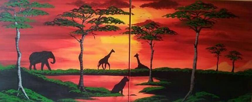 African Scene by Paula Marley