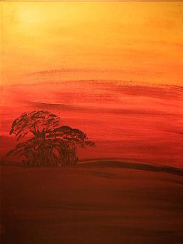 African Sunset by Shari Simpson
