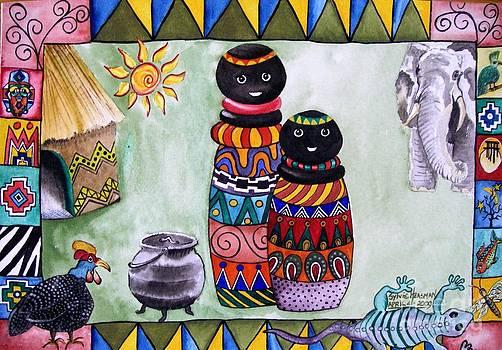 African Village Life by Sylvie Heasman
