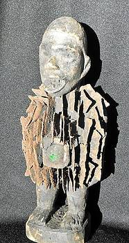 African wood carving with nail fetish by Anonymous