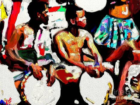 Afrikan Drummers by Vannetta Ferguson