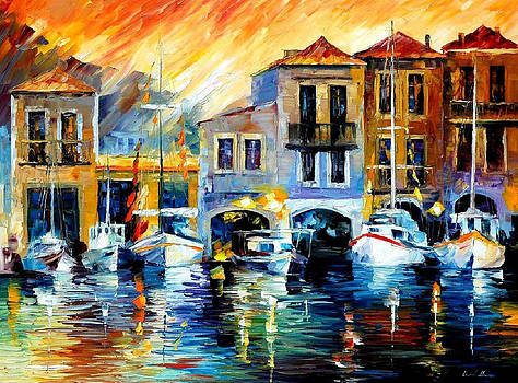 After A Days Work - PALETTE KNIFE Oil Painting On Canvas By Leonid Afremov by Leonid Afremov