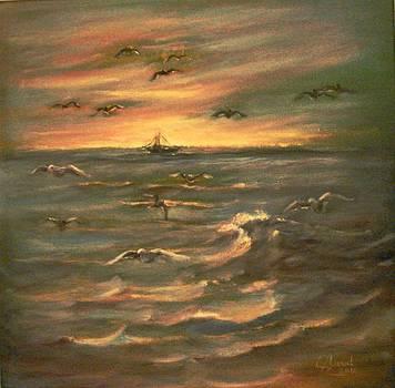 After sunset  by Laila Awad Jamaleldin