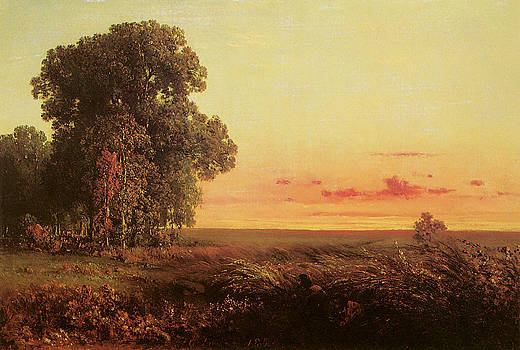 George Inness - Afterglow on the Prairie
