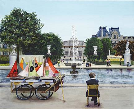 Afternoon At The Louvre by Patricia Crowley