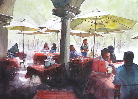 Afternoon Cafe by Donna Dickson