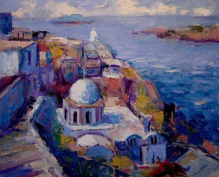 Afternoon in Santorini by R W Goetting