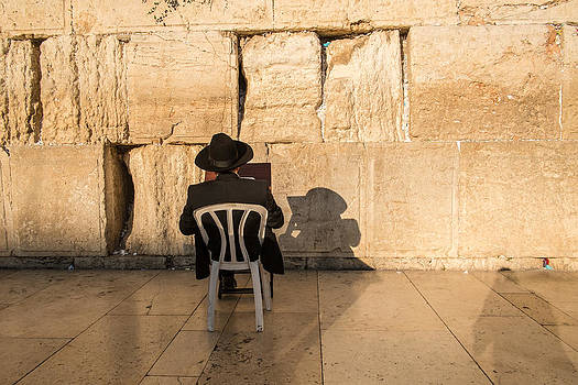 Afternoon Prayers Western Wall by Mason Resnick