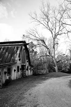 Afton Villa Barn BW by Susie Hoffpauir