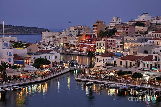 George Atsametakis - Agios Nikolaos city during dusk time