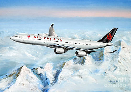 Air Canada Airbus A340-500  by Greg Bajor