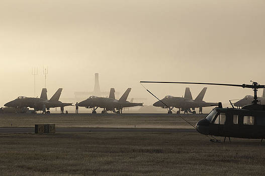 Air Field in the Fog by Sheri Heckenlaible