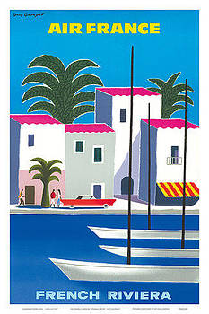 Air France French Riviera by Vintage