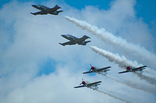 Air Show Fly By by Sheri Heckenlaible
