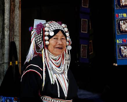 Akha Woman Portrait by Duane Bigsby