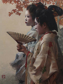 Aki  - japanese oil painting by Phil Couture