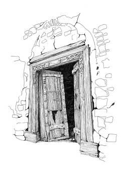 Al Minsefah Doorway by Sue Pownall